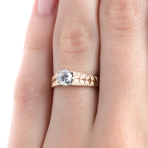 Enchanting Victorian Era Engagement Ring with Floral Hand Graving | Fort Collins from Trumpet & Horn