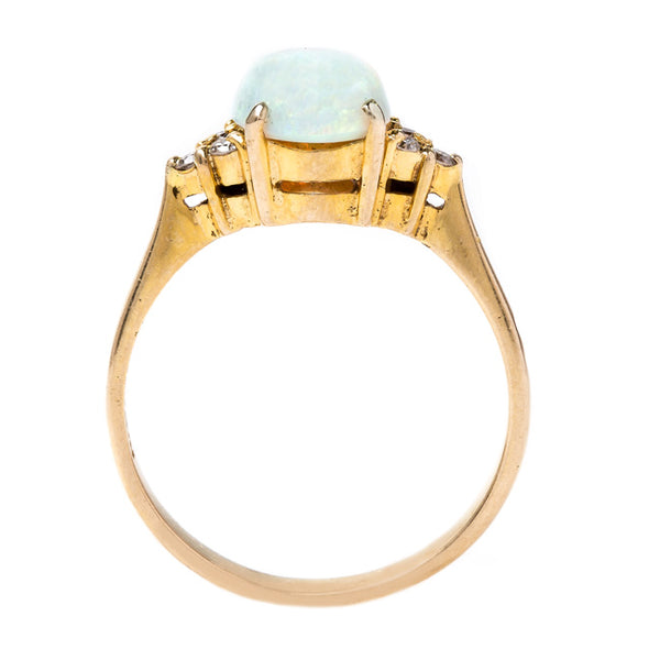 Dreamy Cabochon Opal and Diamond Ring | Foxcroft from Trumpet & Horn