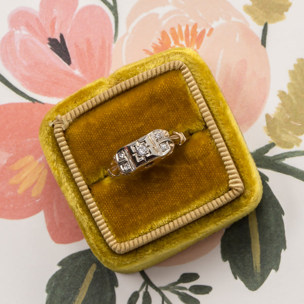 Foxfire vintage art deco engagement ring from Trumpet & Horn