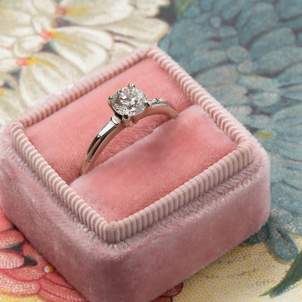Franklin Vintage Simple Diamond Solitaire Engagement Ring from Trumpet & Horn