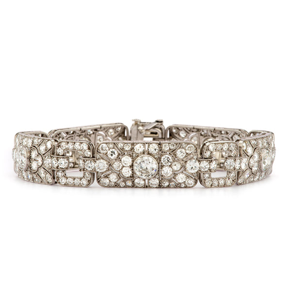 French Art Deco Diamond & Platinum Bracelet