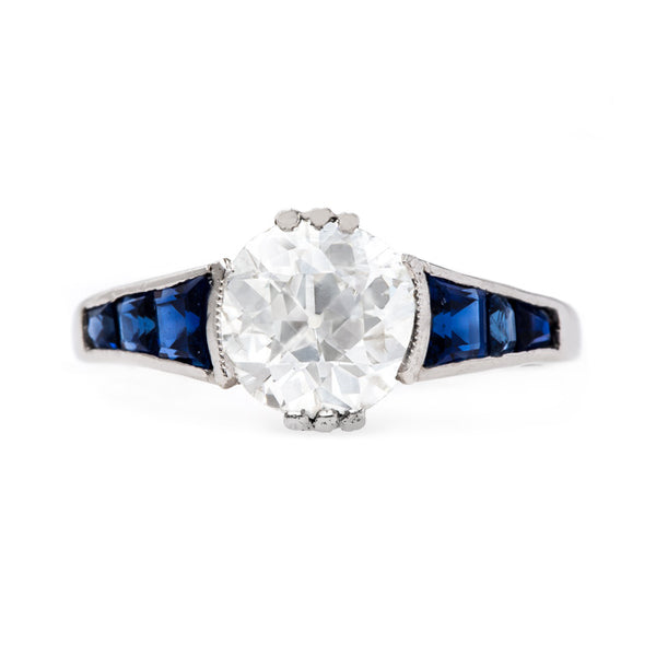 Vintage Art Deco Diamond and Sapphire Ring | Frost Knoll from Trumpet & Horn