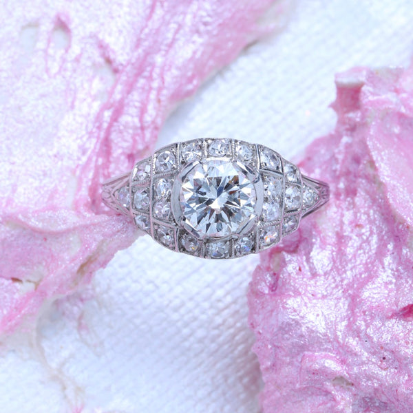 Dazzling Art Deco Diamond Vintage Engagement Ring | Fullam Hill