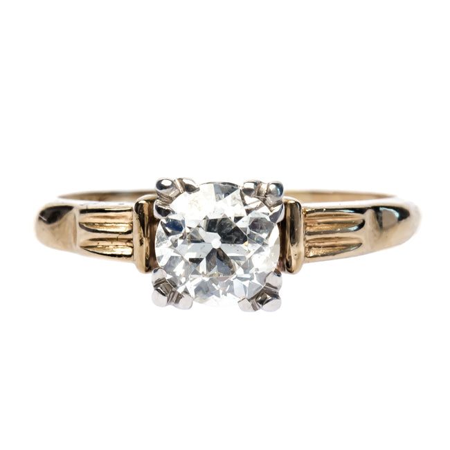 Gableton vintage gold and diamond engagement ring from Trumpet & Horn