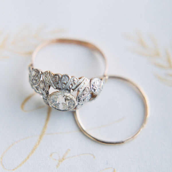 Fabulous Vintage Art Nouveau Engagement Ring | Gatewood from Trumpet & Horn | Photo by Sawyer Baird