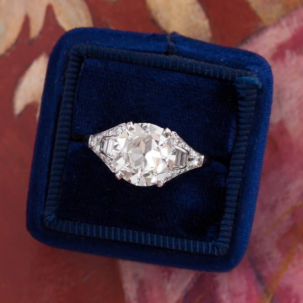 Extraordinary GIA Certified Platinum Diamond Ring | Geneva from Trumpet & Horn