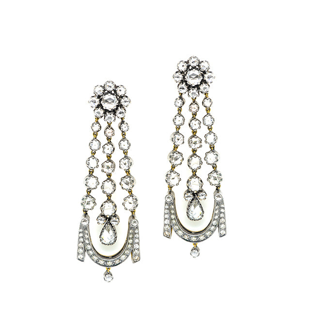 georgian chandelier earrings