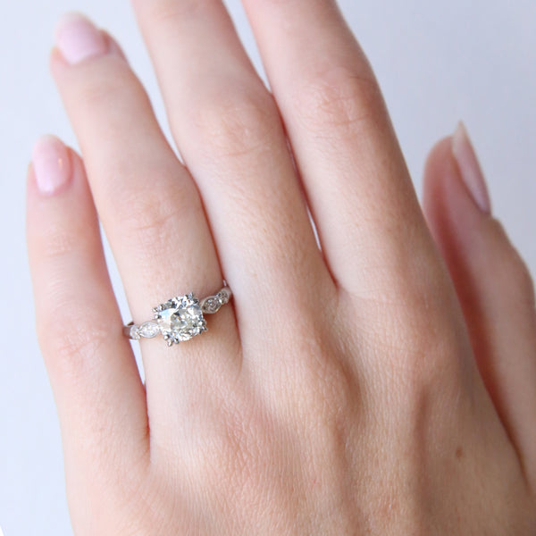 A Timeless Vintage Art Deco Platinum and Diamond Engagement Ring | Glenbridge