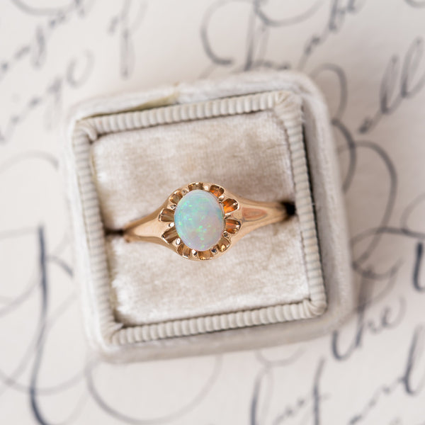 Perfect Solitaire Opal Engagement Ring | Glencoe from Trumpet & Horn