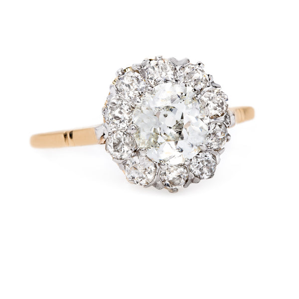 Impeccable Yellow Gold Cluster Ring | Golden Hills from Trumpet & Horn