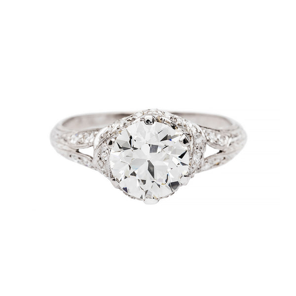 Glittering Platinum and Diamond Engagement Ring | Goodland