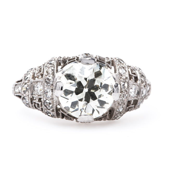 Gramercy Park Vintage Unique Diamond Engagement Ring from Trumpet & Horn