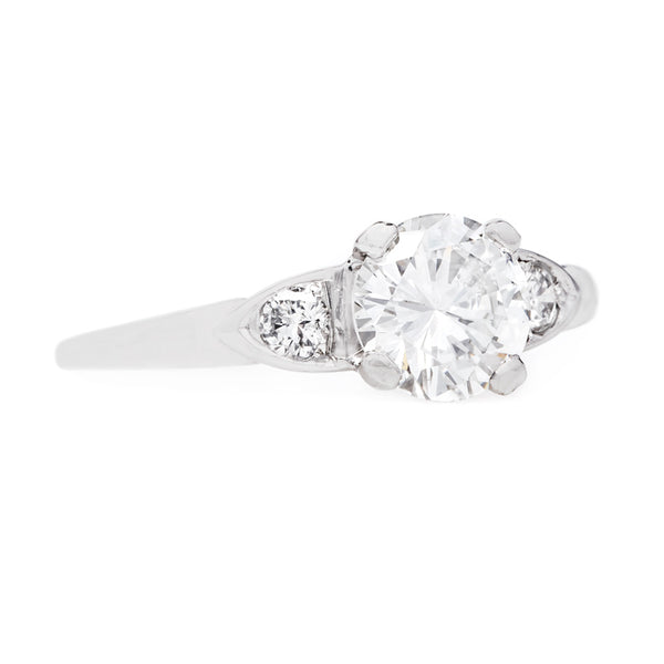 Beautifully Tapering Round Brilliant Cut Diamond Engagement Ring | Grandview from Trumpet & Horn