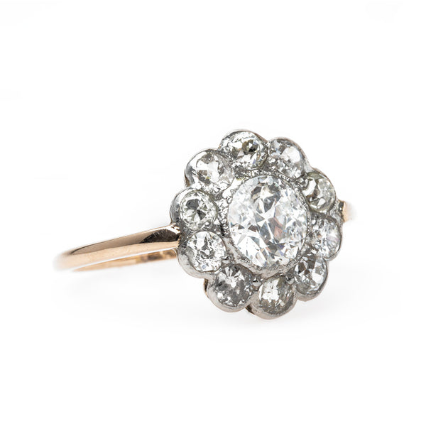 Timeless Victorian Engagement Ring with Old Mine Cut Diamond Halo | Grantham from Trumpet & Horn