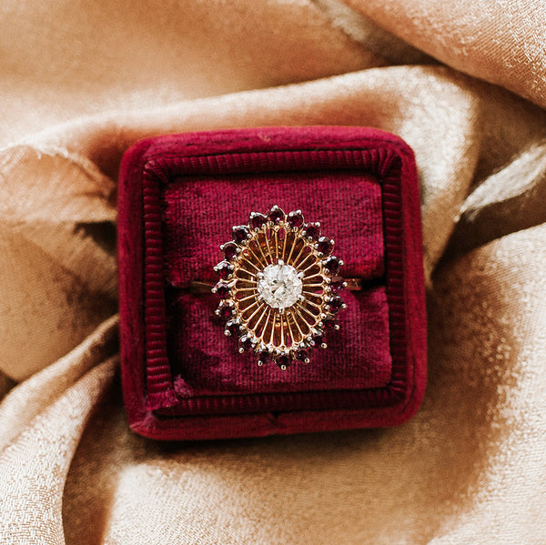 Whimsical Ruby and Diamond Cocktail Ring | Photo by Michelle Lillywhite