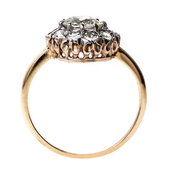 Spectacular Edwardian Cluster Ring | Haddington from Trumpet & Horn