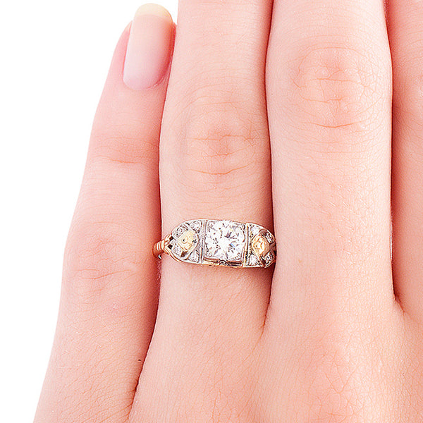 Vintage Engagement Ring | Art Deco Engagement Ring | Hadley from Trumpet & Horn