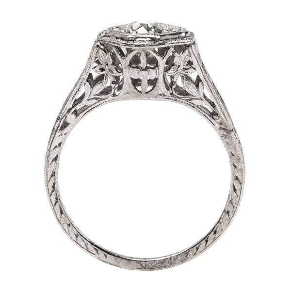 Engraved Edwardian Engagement Ring | Haletown from Trumpet & Horn
