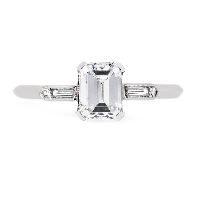 Classic Emerald Cut Design | Half Moon Bay from Trumpet & Horn