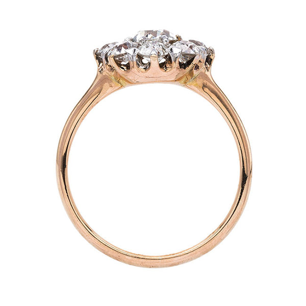 Glittering Victorian Rose Gold Halo Ring | Hallington from Trumpet & Horn
