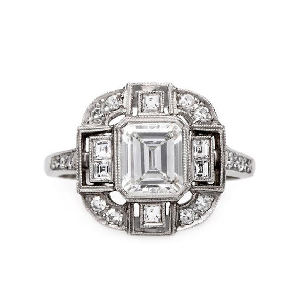 Incredible Newly Made Platinum Engagement ring with Emerald Cut Diamond | Hampstead Heath from Trumpet & Horn