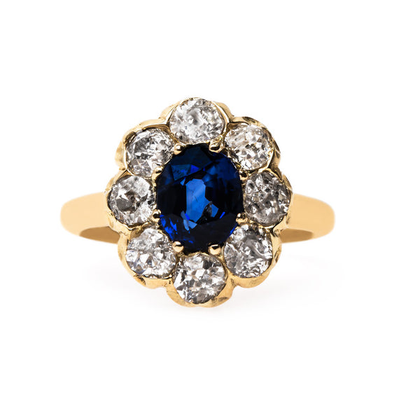 Classic Victorian Sapphire Halo Ring | Hanover from Trumpet & Horn