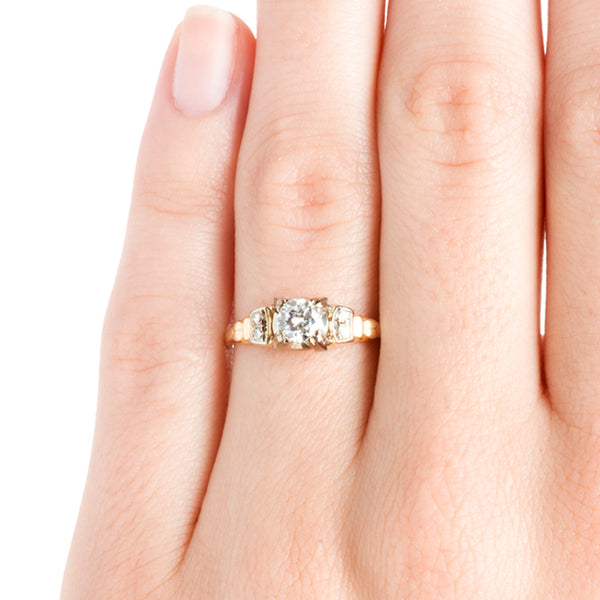 Vintage Diamond Gold Engagement Ring | Retro Simple Solitaire Wedding Ring | Hansley Hills from Trumpet & Horn