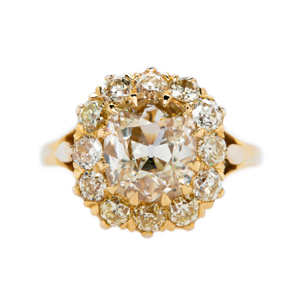 Sparkling Victorian-Inspired Diamond Cluster Ring | Harborview