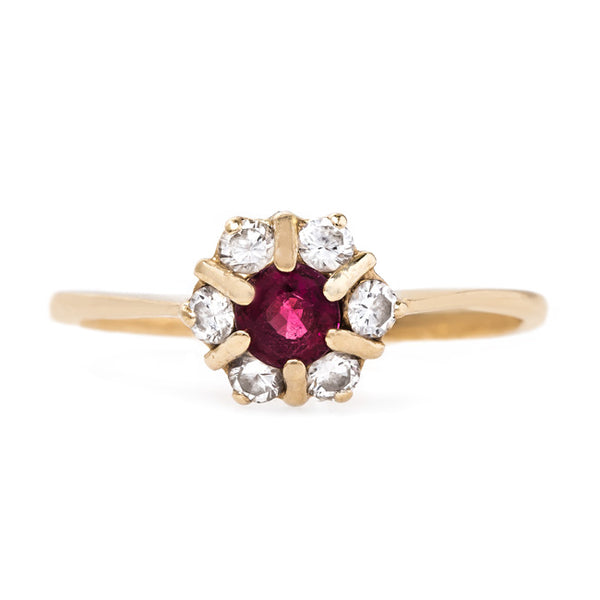Sweet Ruby and Diamond Ring | Harkins from Trumpet & Horn