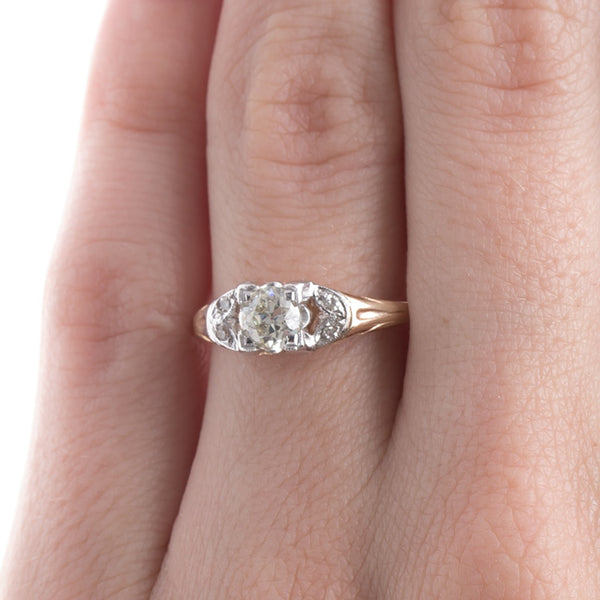 Splendid Mixed Metal Retro Era Engagement Ring | Harper from Trumpet & Horn