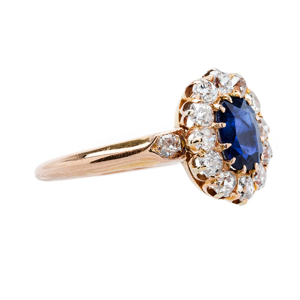 Gorgeous Sapphire & Diamond Antique Engagement Ring | Hatteras from Trumpet & Horn