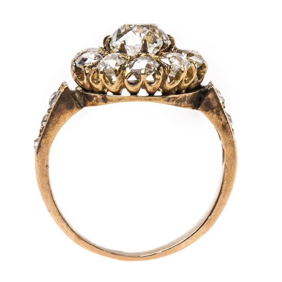 Victorian Cluster Ring with Old Mine Cut Center | Haven Lane from Trumpet & Horn