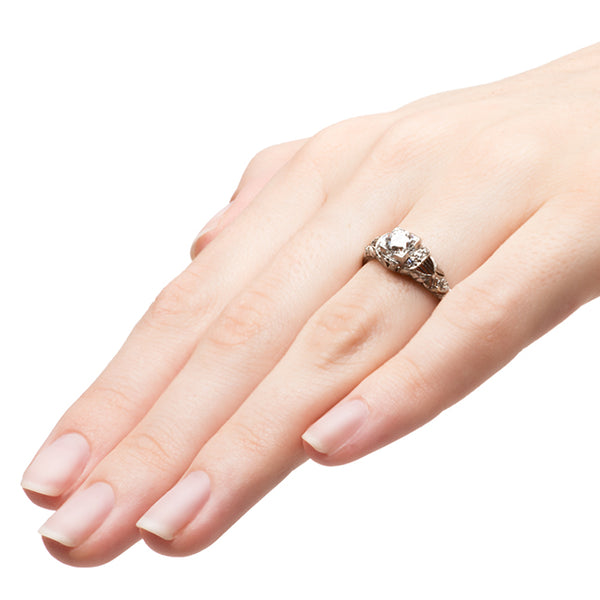 Hawk Springs Edwardian Unique Diamond Engagement Ring | Hawk Springs from Trumpet & Horn