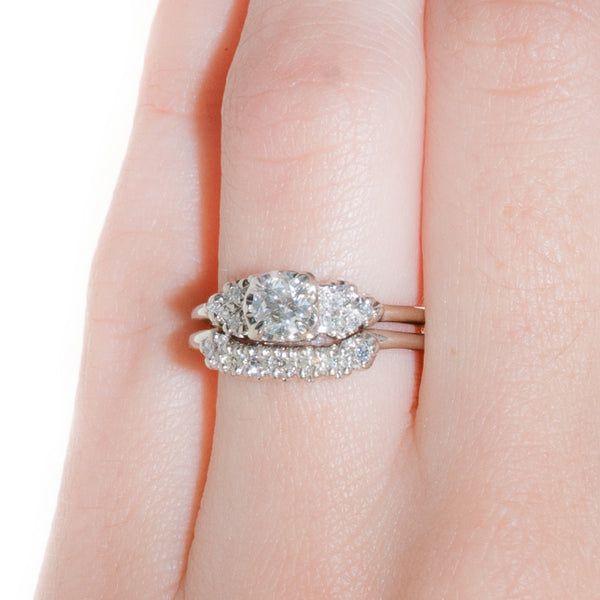 Vintage Engagement Ring Set | Vintage Wedding Band