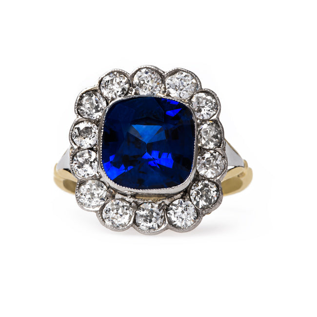 Vintage Sapphire and Diamond Engagement Ring | High Grove from Trumpet & Horn