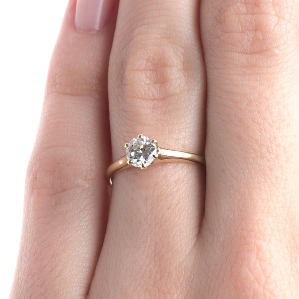 Victorian Era Yellow Gold Solitaire Engagement Ring with Old European Cut Diamond | Hillstone from Trumpet & Horn