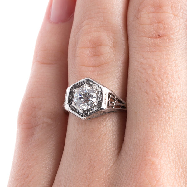 Sparkling Art Deco Engagement Ring with Old European Cut Center | Holland from Trumpet & Horn