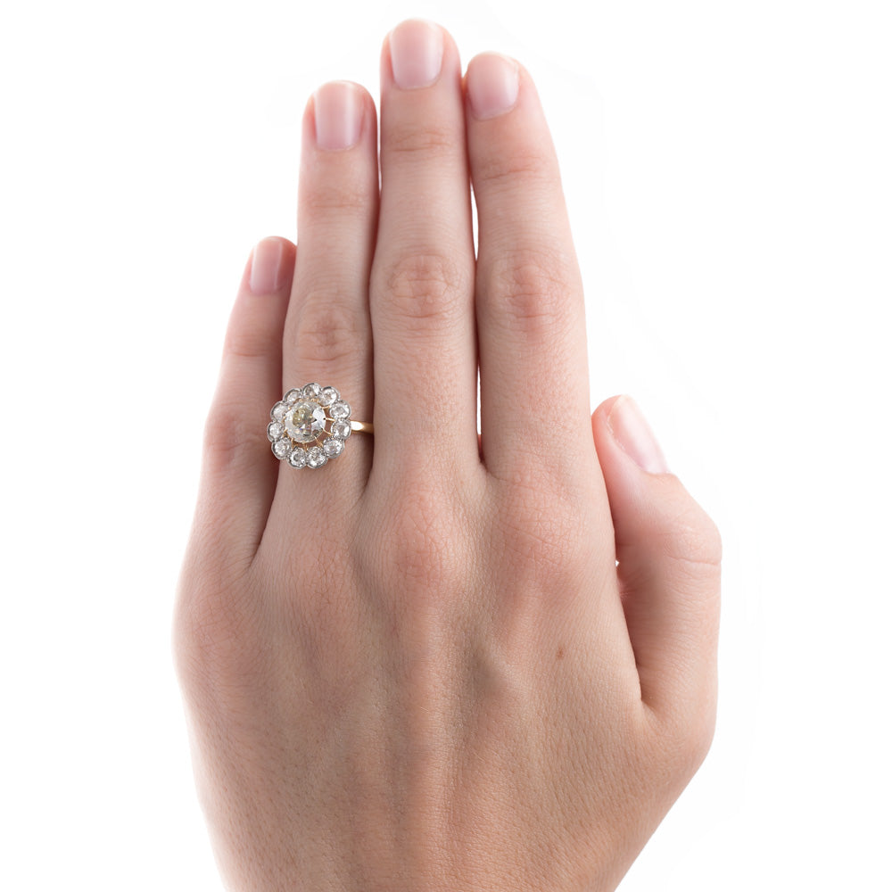 Antique Halo Engagement Ring | Holloway – Trumpet & Horn