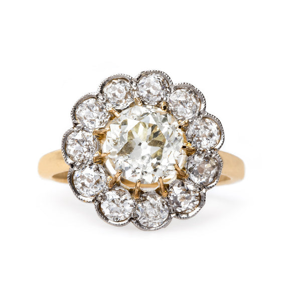 Antique Halo Engagement Ring | Holloway from Trumpet & Horn