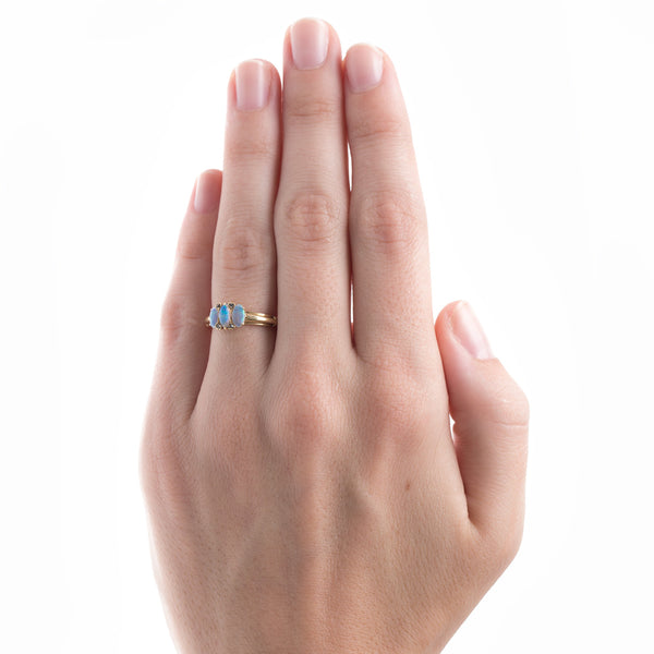 Opal Ring with English Hallmarks | Homecrest from Trumpet & Horn