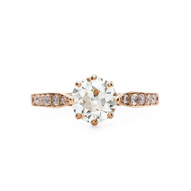 Beautiful Vintage Inspired Rose Gold Solitaire Engagement Ring | Horizon from Trumpet & Horn