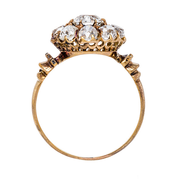 Yellow Gold Cluster Ring from the Victorian Era | Huntley from Trumpet & Horn