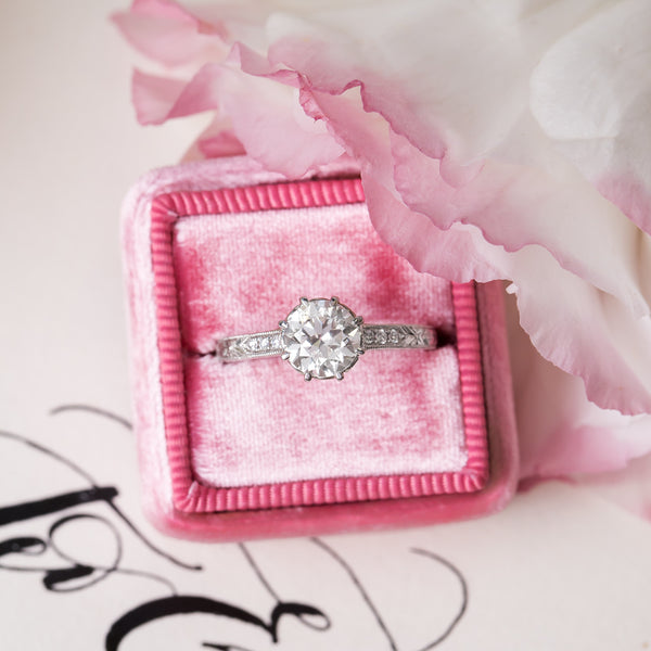 Glittering White Gold and Diamond Ring | Hydrangea from Trumpet & Horn