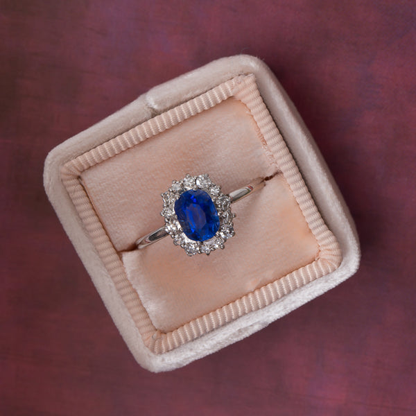 Late Art Deco Sapphire Engagement Ring | Windsor Terrace from Trumpet & Horn