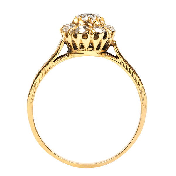 Jacksboro Vintage Gold Flower Engagement Ring from Trumpet & Horn