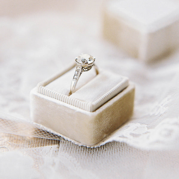 Glittering Art Deco Engagement Ring | Photo by Jessica Kay Hinson