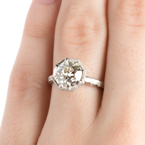 Vintage Platinum Old European Cut Engagement Ring | Jolie from Trumpet & Horn