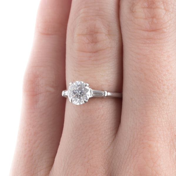 Classic Mid-Century Ring with White Diamond | Juno Beach from Trumpet & Horn