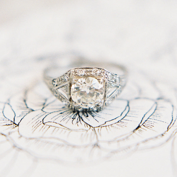 Vintage Art Deco Engagement Ring | Photo by Kayla Barker