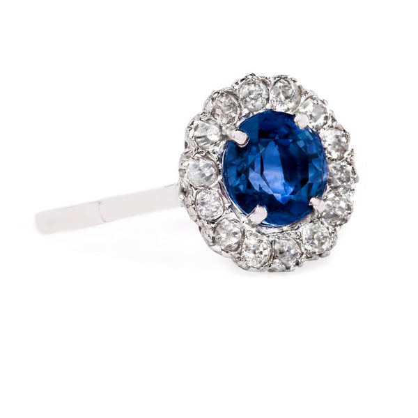 Delightful Purplish Blue Sapphire Halo Ring | Kennoway from Trumpet & Horn